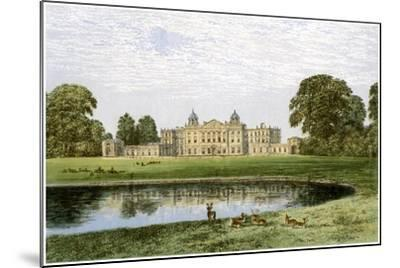 Badminton House, Gloucestershire, Home of the Duke of Beaufort, C1880-AF Lydon-Mounted Giclee Print