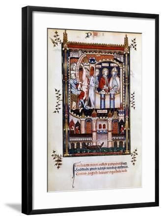 St Denis in Chains, 1317--Framed Giclee Print