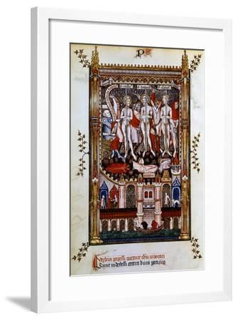 Flagellation of St Denis, St Rustic and St Eleutherius, 1317--Framed Giclee Print