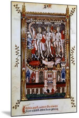 Flagellation of St Denis, St Rustic and St Eleutherius, 1317--Mounted Giclee Print