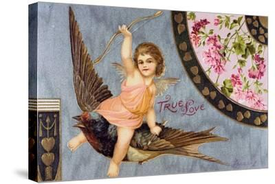 True Love, American Valentine Card, 1908--Stretched Canvas Print