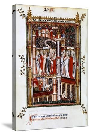 St Denis Sends Out Missionaries, 1317--Stretched Canvas Print
