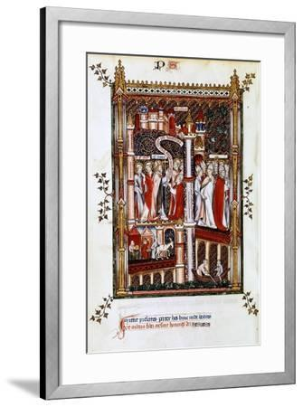 St Denis Sends Out Missionaries, 1317--Framed Giclee Print