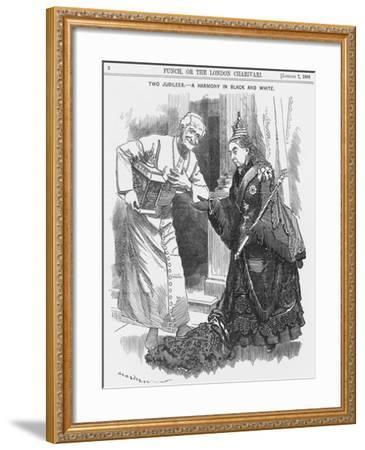 Two Jubilees - a Harmony in Black and White, 1888-Edward Linley Sambourne-Framed Giclee Print