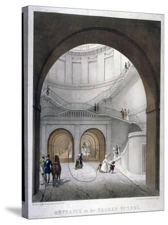 Entrance to the Thames Tunnel at Wapping, London, 1836-B Dixie-Stretched Canvas Print