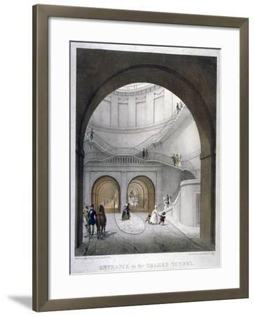 Entrance to the Thames Tunnel at Wapping, London, 1836-B Dixie-Framed Giclee Print