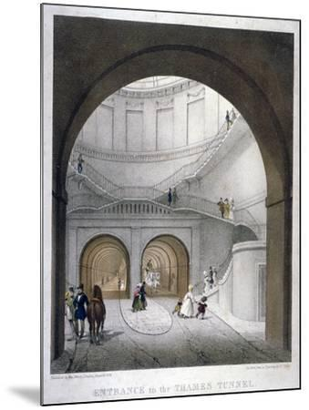 Entrance to the Thames Tunnel at Wapping, London, 1836-B Dixie-Mounted Giclee Print