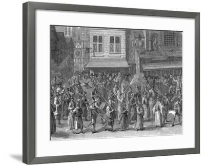 Procession of the League (La Ligu), Paris, 24 May 1590-Jan Brueghel the Younger-Framed Giclee Print