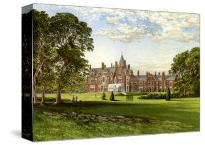Bagshot Park, Surrey, Home of the Duke of Connaught, C1880-Benjamin Fawcett-Stretched Canvas Print
