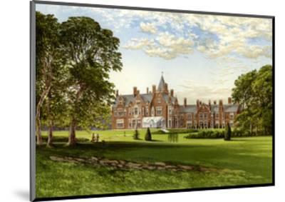 Bagshot Park, Surrey, Home of the Duke of Connaught, C1880-Benjamin Fawcett-Mounted Premium Giclee Print