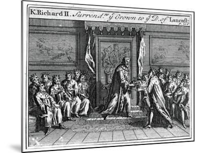 Richard II of England Surrenders His Crown, 1399--Mounted Giclee Print