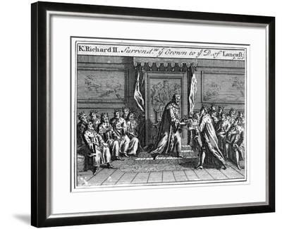 Richard II of England Surrenders His Crown, 1399--Framed Giclee Print