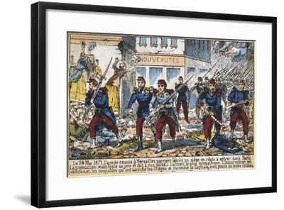 Government Soldiers Advancing into Paris to Suppress the Commune, 24th May 1871--Framed Giclee Print