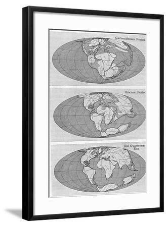 Theory of Continental Drift, 1922--Framed Giclee Print