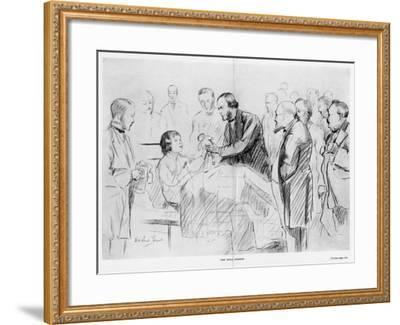 Joseph Lister, English Surgeon, on His Ward Round in Glasgow Royal Infirmary, C1867--Framed Giclee Print