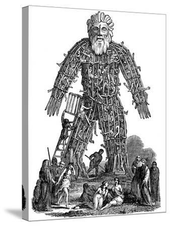 Wicker Man, 1st Century Ad--Stretched Canvas Print