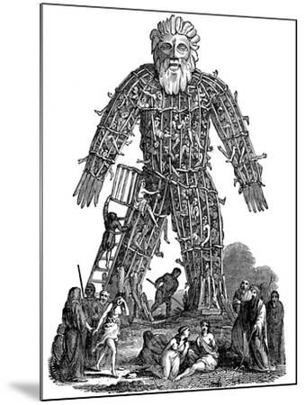 Wicker Man, 1st Century Ad--Mounted Giclee Print