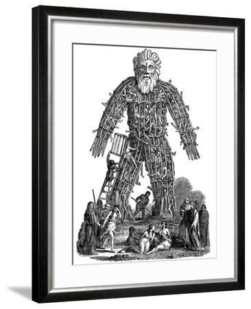 Wicker Man, 1st Century Ad--Framed Giclee Print