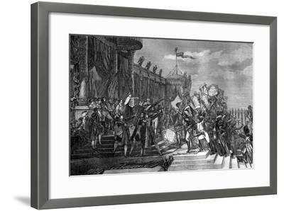 The Distribution of the Eagle Standards, Paris, 5th December 1804-Jacques Louis David-Framed Giclee Print