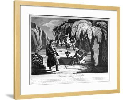 The Ghost of Napoleon on St Helena, C1825--Framed Giclee Print