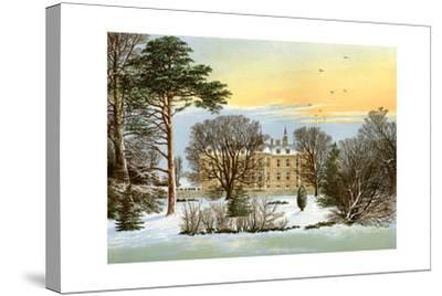 Warter Priory, Near Pocklington, Yorkshire, Home of the Wilson Family, C1880-Benjamin Fawcett-Stretched Canvas Print