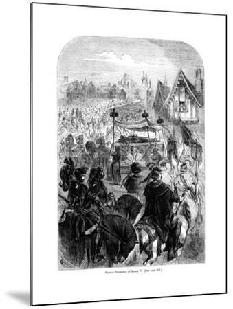 The Funeral Procession of King Henry V, 1422--Mounted Giclee Print
