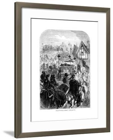 The Funeral Procession of King Henry V, 1422--Framed Giclee Print