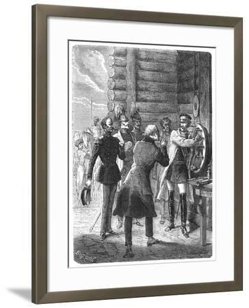 First Chappe Telegraph Message from St Petersburg, Early 19th Century--Framed Giclee Print