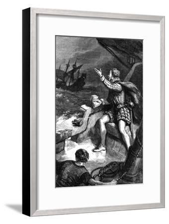 The Last Moments of Sir Humphrey Gilbert, 1583--Framed Giclee Print
