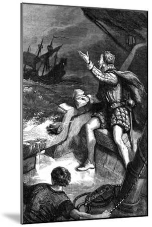 The Last Moments of Sir Humphrey Gilbert, 1583--Mounted Giclee Print