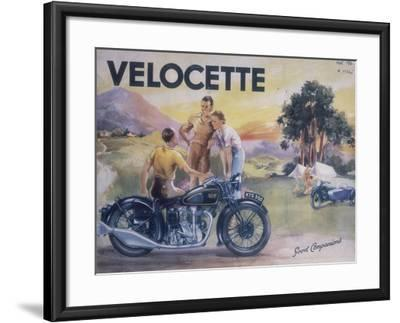 Poster Advertising Velocette Motor Bikes, 1936--Framed Giclee Print