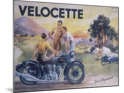 Poster Advertising Velocette Motor Bikes, 1936--Mounted Giclee Print
