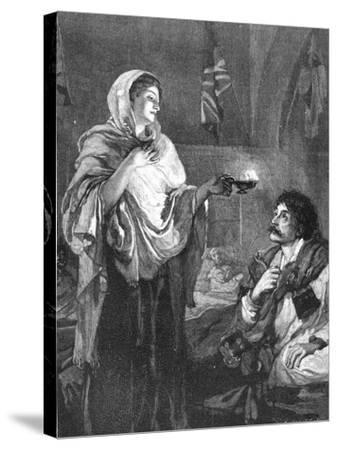 The Lady with the Lamp, C1880--Stretched Canvas Print