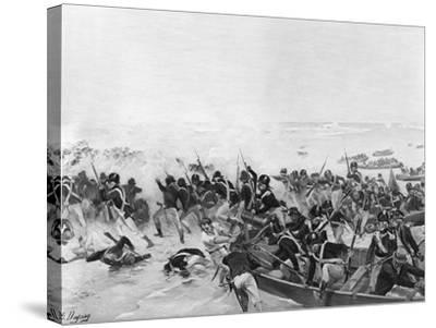 The Battle of Aboukir, Egypt, 1801-Henri-Louis Dupray-Stretched Canvas Print