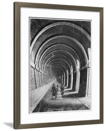 Thames Tunnel, London, Mid 19th Century--Framed Giclee Print