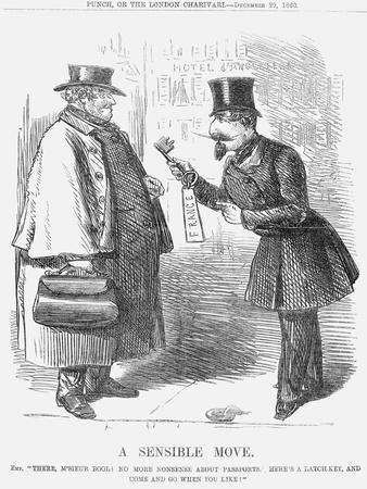 A Sensible Move, 1860--Mounted Giclee Print