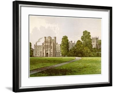 Coughton Court, Warwickshire, Home of Baronet Throckmorton, C1880-AF Lydon-Framed Giclee Print