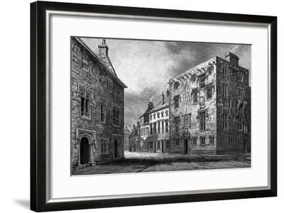 Street in Galway, Showing the House of Thomas Lynch, 1893-William Henry Bartlett-Framed Giclee Print