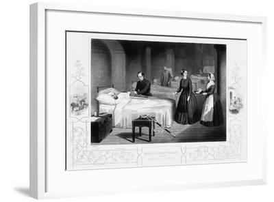 Florence Nightingale in the Hospital at Scutari, C1860--Framed Giclee Print