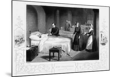 Florence Nightingale in the Hospital at Scutari, C1860--Mounted Giclee Print