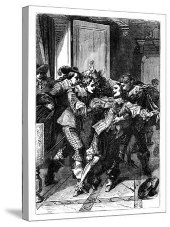 The Assassination of the Duke of Buckingham, C1902--Stretched Canvas Print