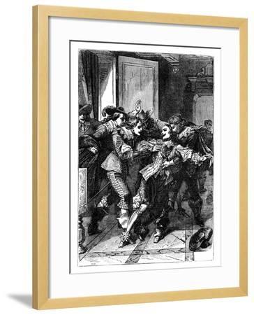 The Assassination of the Duke of Buckingham, C1902--Framed Giclee Print