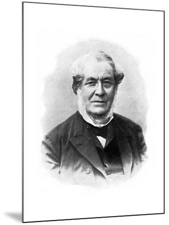Robert Wilhelm Bunsen, 19th Century German Chemist--Mounted Giclee Print