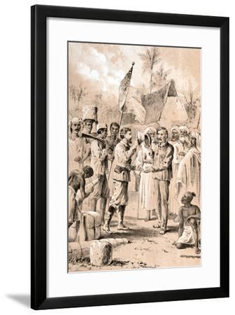 Dr Livingstone, I Presume?, November 1871--Framed Giclee Print