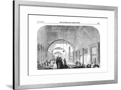 The Barrack Hospital at Scutari During the Crimean War, 1854--Framed Giclee Print