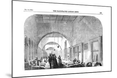 The Barrack Hospital at Scutari During the Crimean War, 1854--Mounted Giclee Print