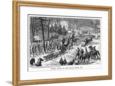 Winter Attack on Fort William Henry, New York State, 1757--Framed Giclee Print