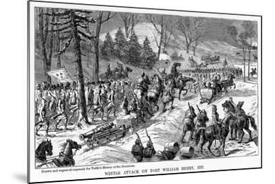Winter Attack on Fort William Henry, New York State, 1757--Mounted Giclee Print