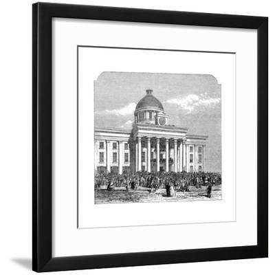 Inauguration of Jefferson Davis, President of the Confederacy, Montgomery, Alabama, 1861--Framed Giclee Print