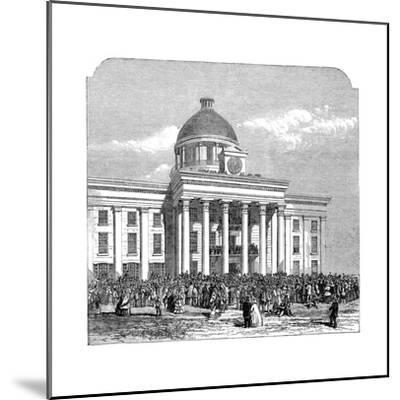 Inauguration of Jefferson Davis, President of the Confederacy, Montgomery, Alabama, 1861--Mounted Giclee Print